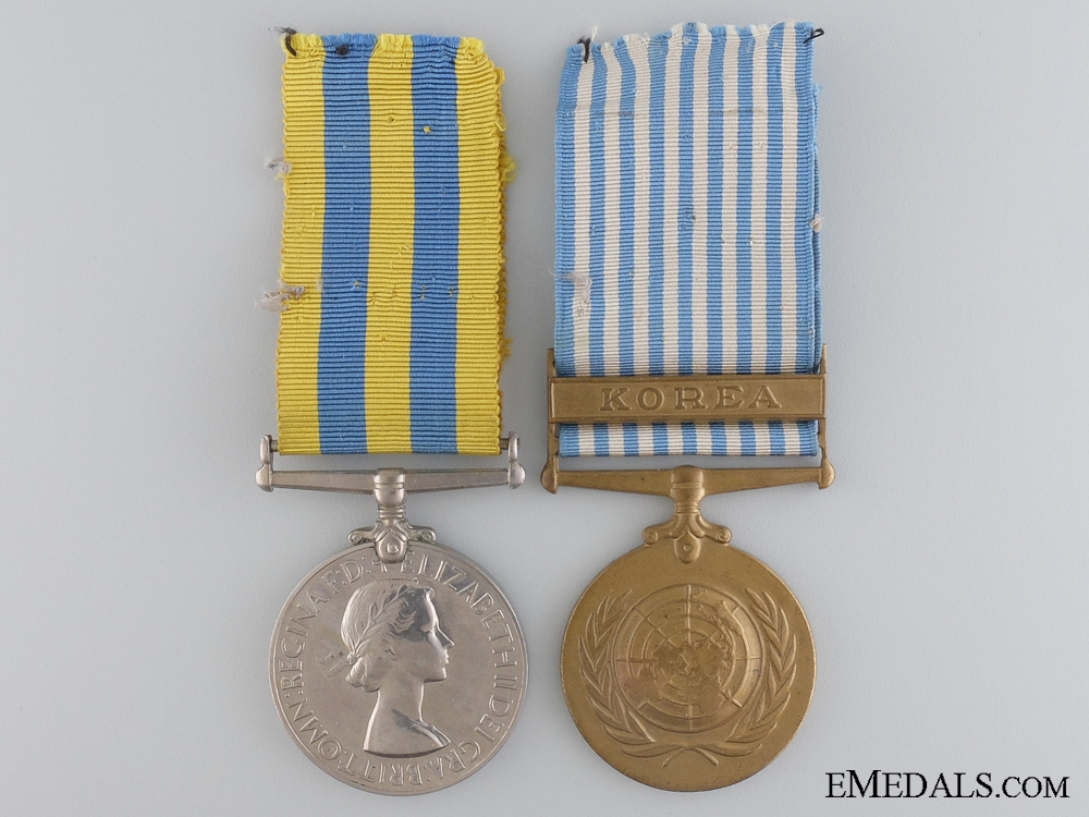 eMedals-A British Korean War Pair to the Royal Navy