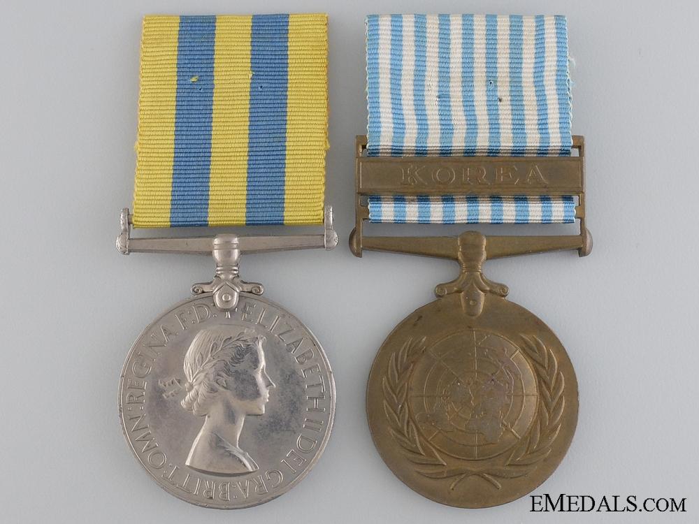 eMedals-A British Korean War Pair to the Royal Navy