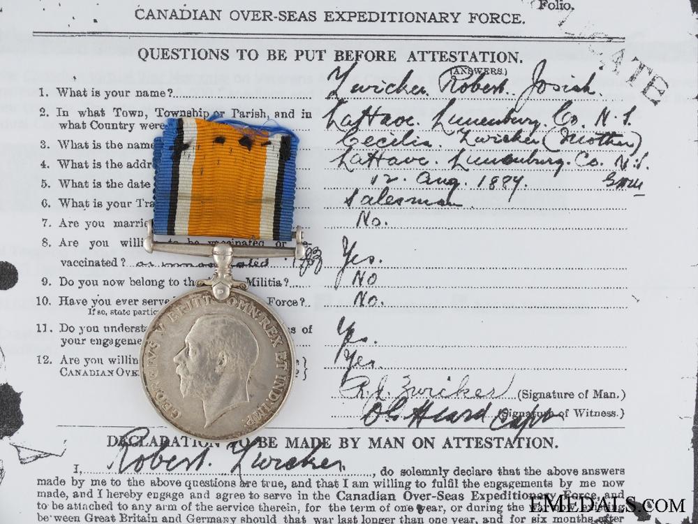 eMedals-A British War Medal to the Nova Scotia Regiment CEF