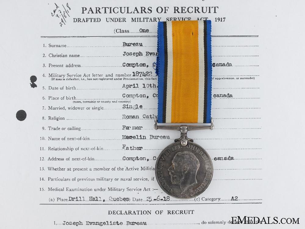 eMedals-A British War Medal to the Quebec Regiment CEF