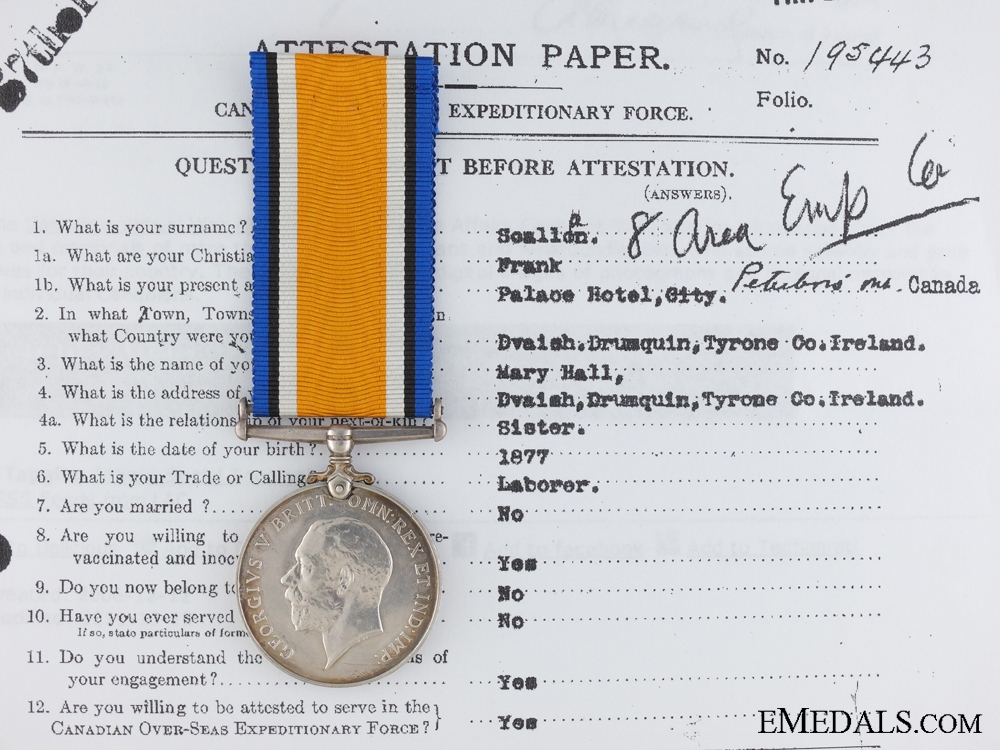 eMedals-A British War Medal to the 5th Canadian Mounted Rifles CEF