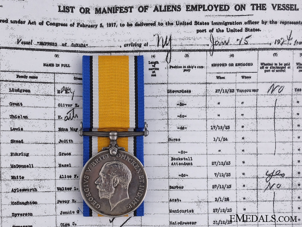 eMedals-A British War Medal to the Military Merchant Marine
