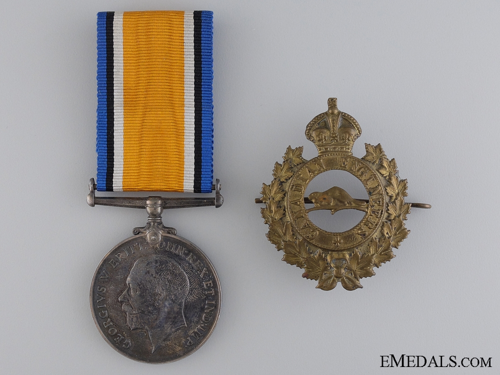 eMedals-A British War Medal to the Canadian Engineers CEF