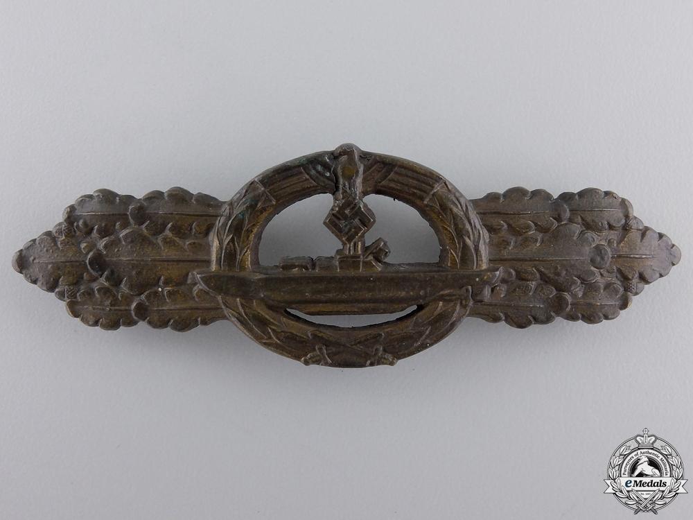 eMedals-A Bronze Grade Kriegsmarine Submarine Clasp by Schwerin