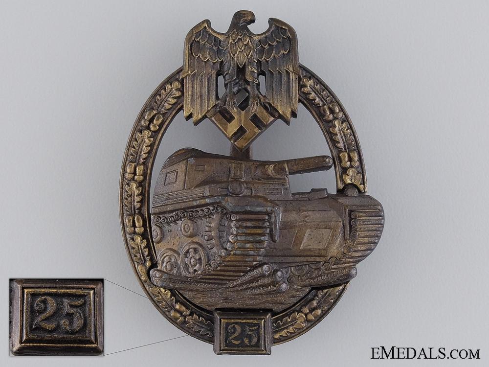 eMedals-A Bronze Grade Tank Badge by JFS; Grade II