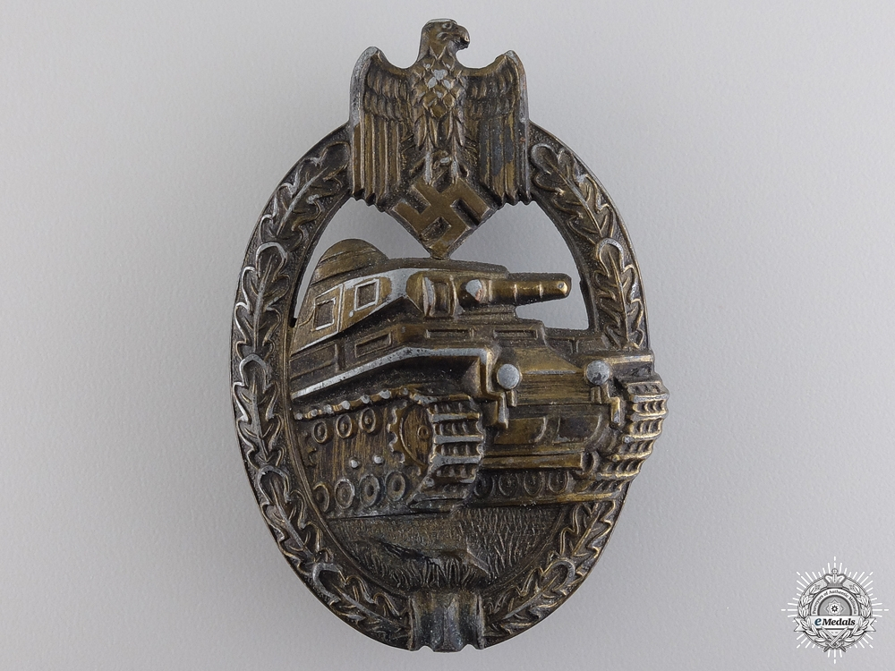eMedals-A Bronze Grade Tank Badge by Rudolf A Karneth & Named