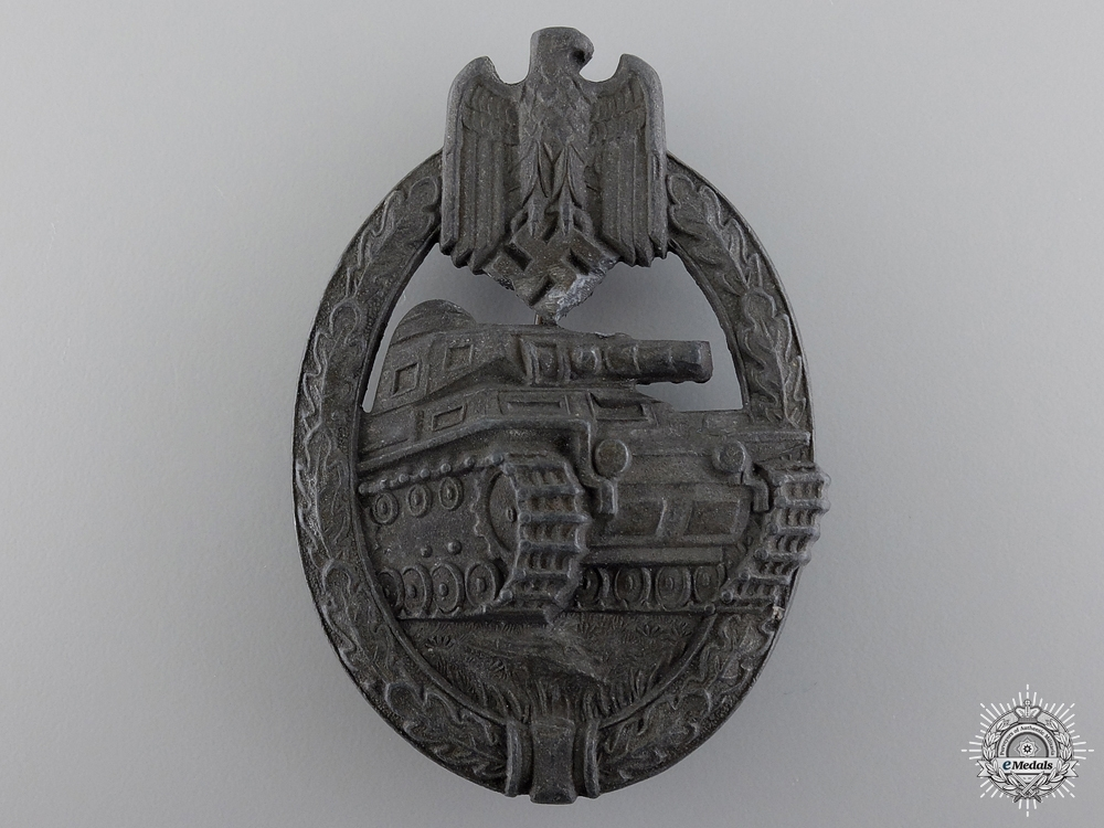 eMedals-A Bronze Grade Tank Badge by Hermann Aurich