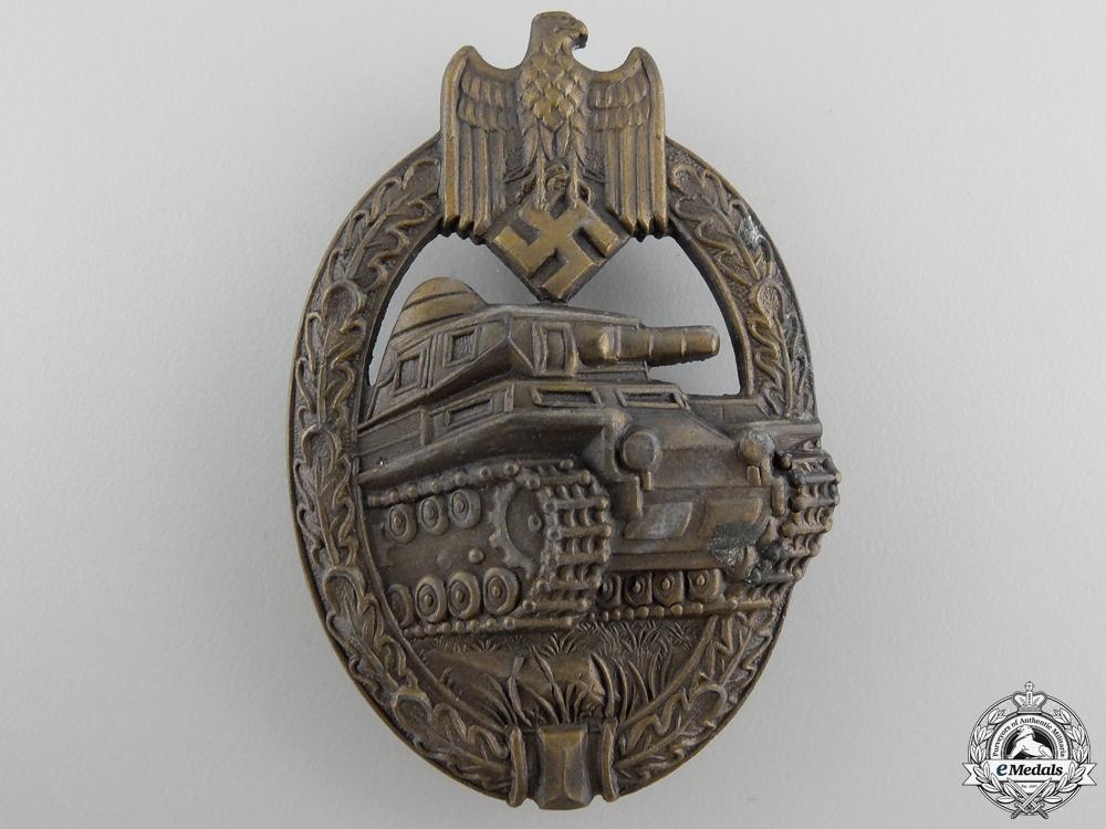 eMedals-A Bronze Grade Tank Badge by Adolf Scholze