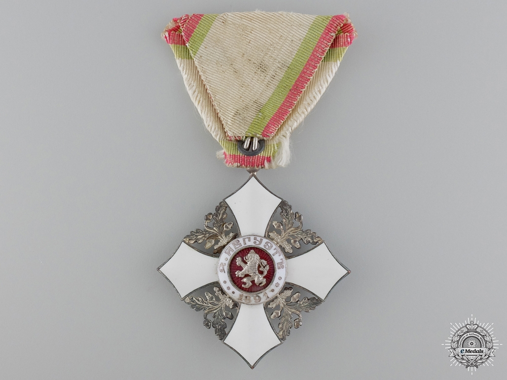 eMedals-A Bulgarian Civil Merit Order; 5th Class Knight