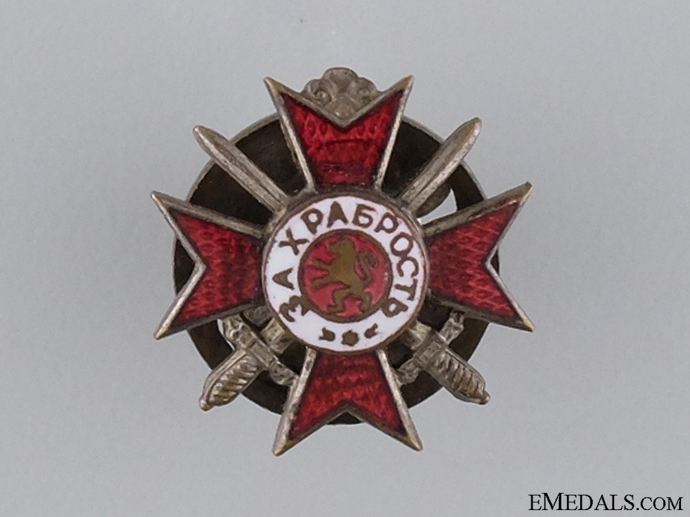 eMedals-A Bulgarian Miniature Military Order for Bravery