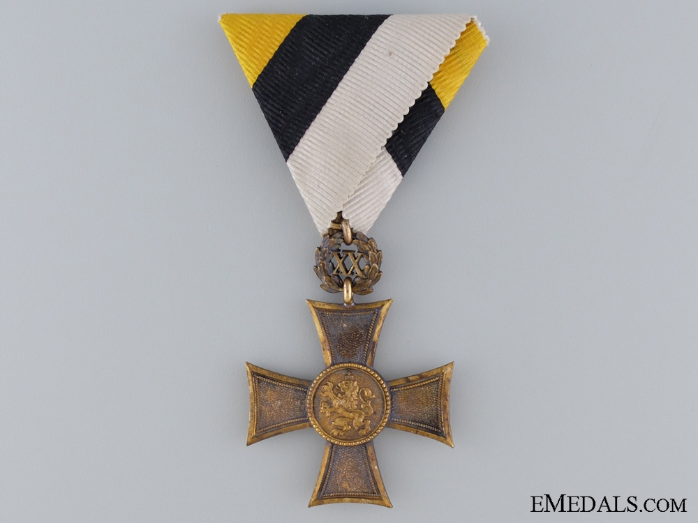 eMedals-A Bulgarian NCO's Bronze Cross for Twenty Years' Service; Type II