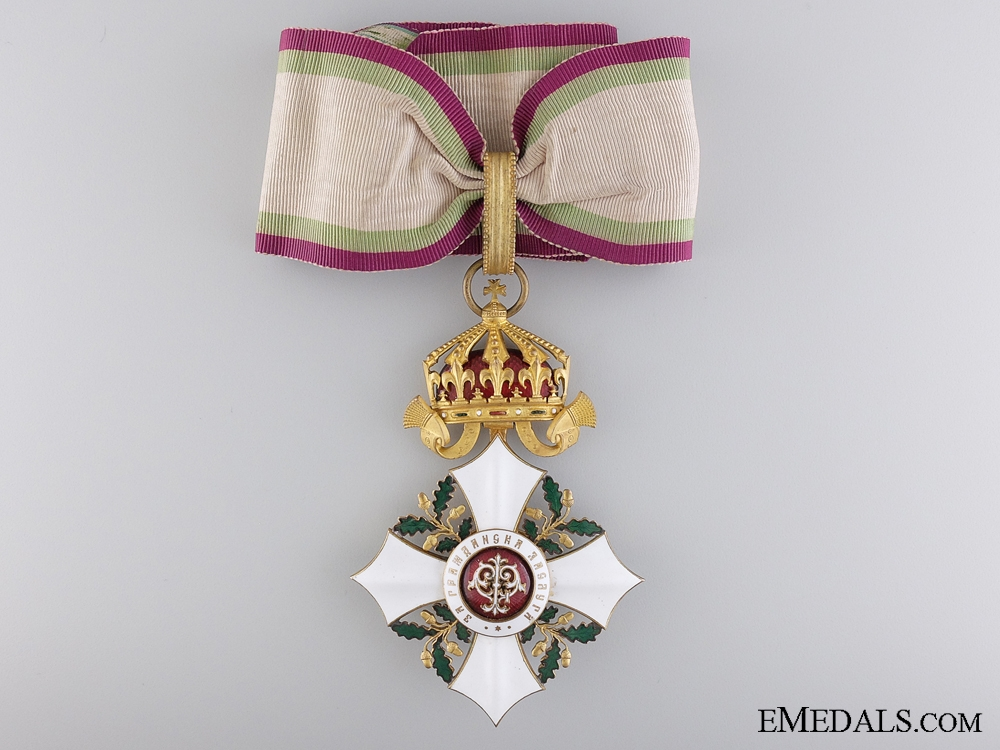 eMedals-A Bulgarian Order of Civil Merit; Commander's Cross