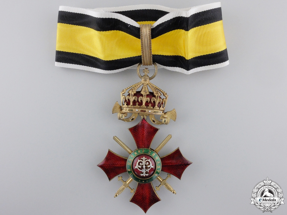 eMedals-A Bulgarian Order of Military Merit; Commander's Cross