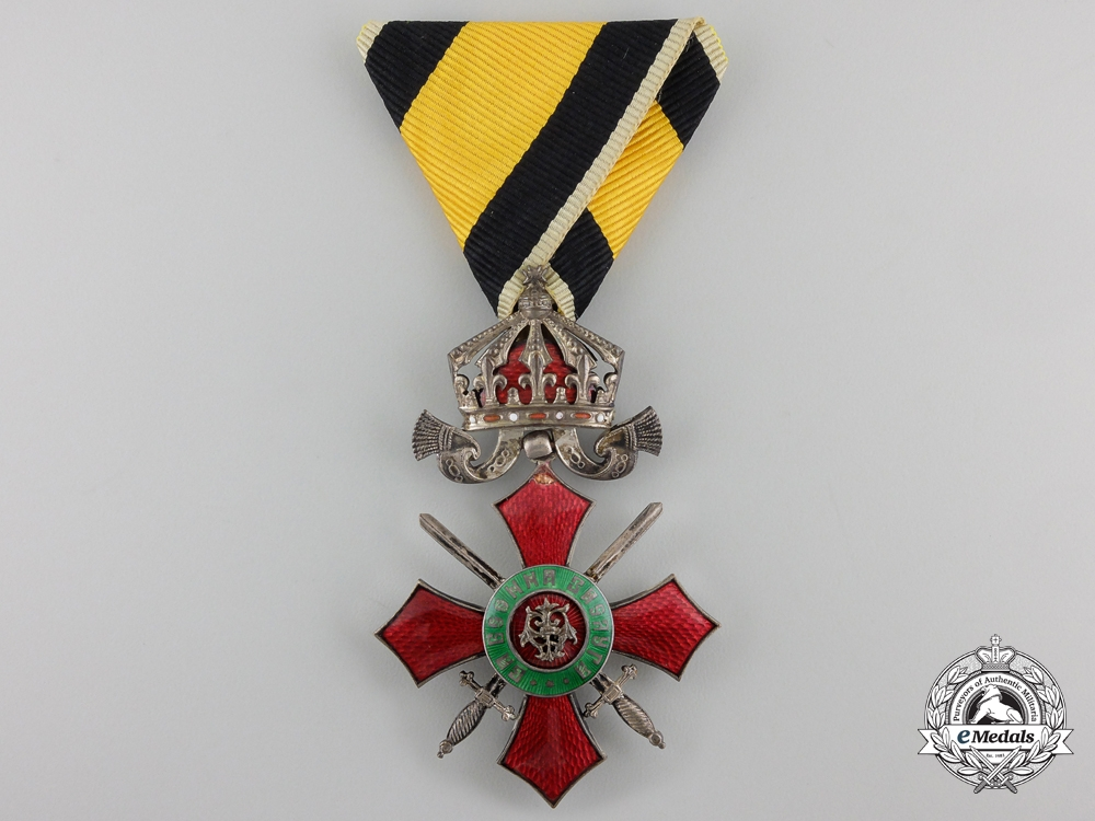 eMedals-A Bulgarian Order for Military Merit, With crown and swords, Fifth Class