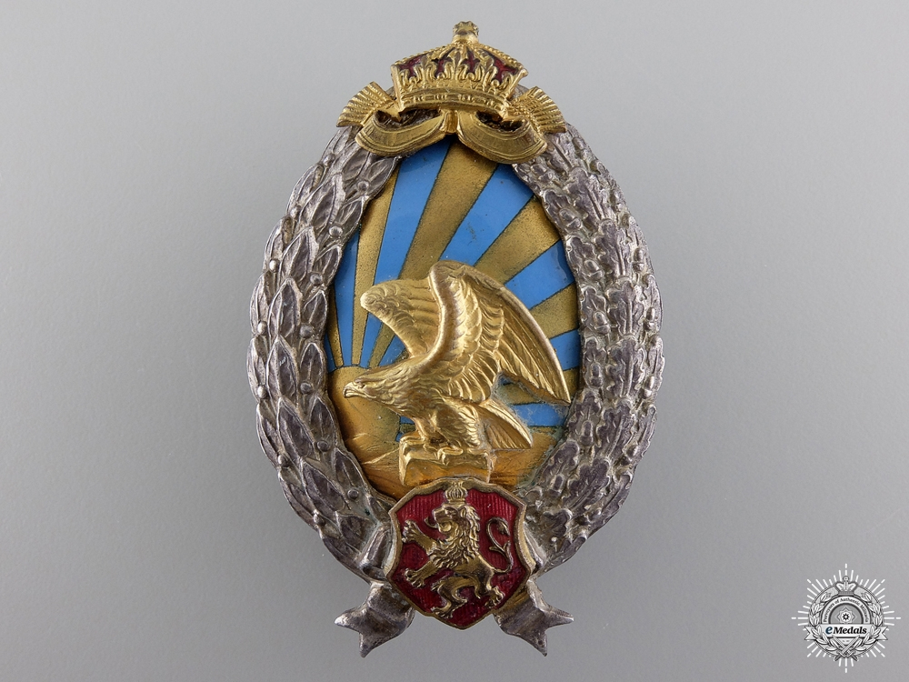 eMedals-A Bulgarian Second War Observer's Badge; German Made