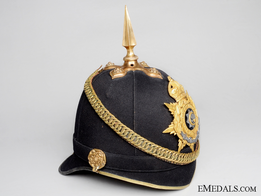 eMedals-A c.1907 Cheshire Regiment Officer's Helmet