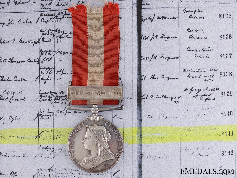 eMedals-A Canada General Service Medal for Service at Fort Erie