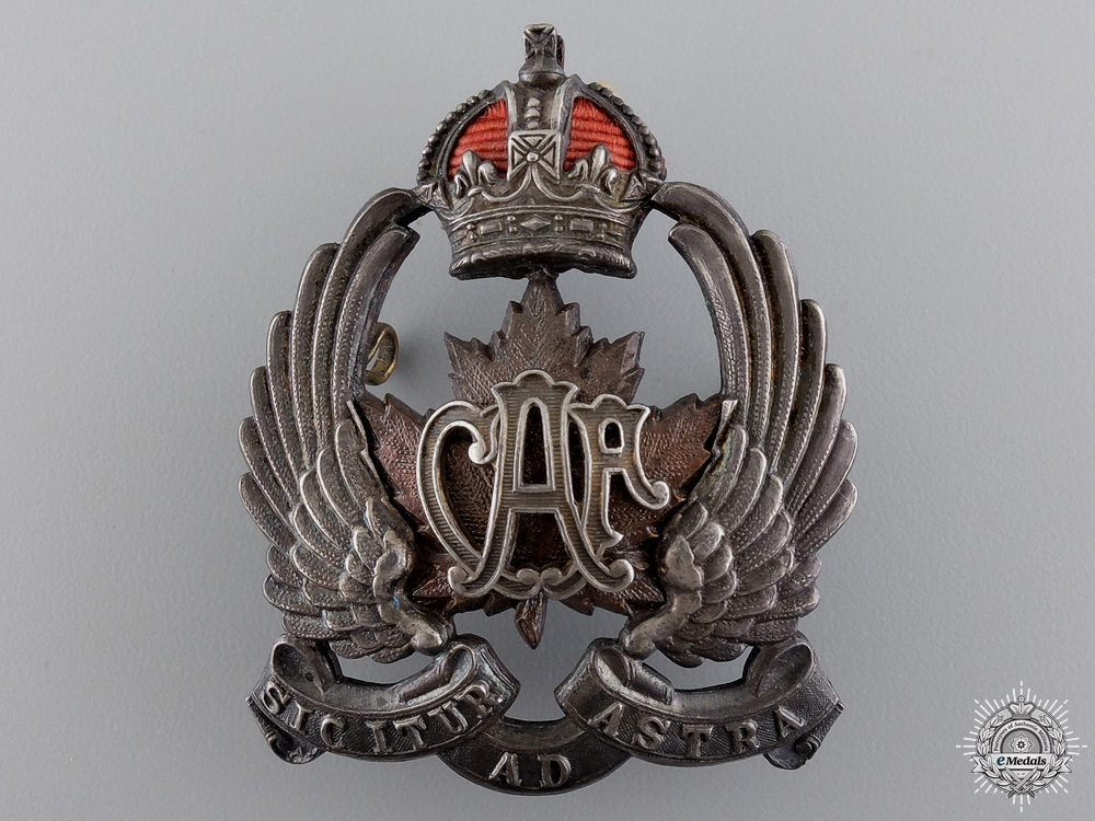eMedals-A Canadian Air Force Officer's Side Cap Badge 1920-1924