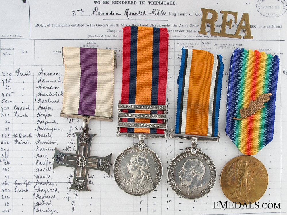 eMedals-A Canadian Boer War and First War M.C. Officer's Group