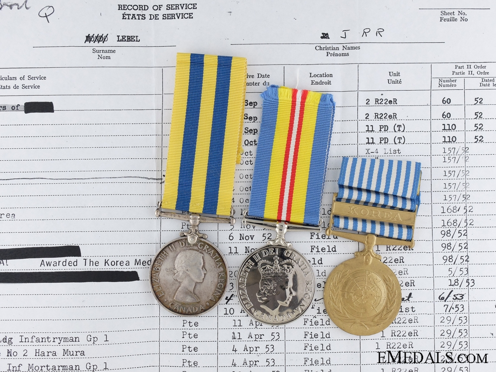 eMedals-A Canadian Korean War Pair to the Royal 22e Regiment