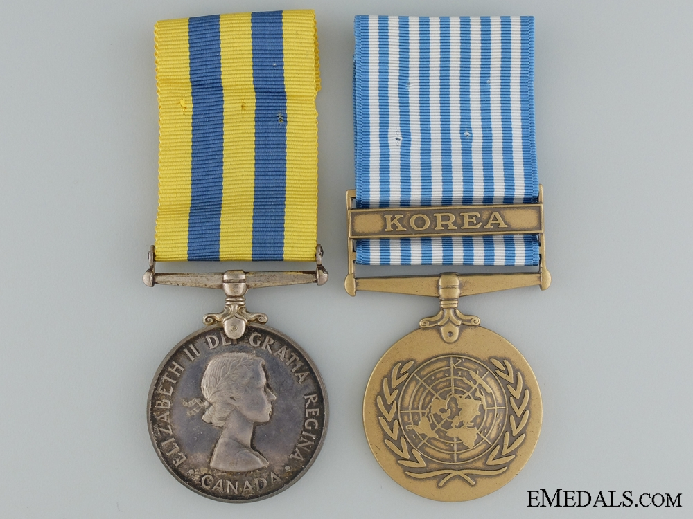 eMedals-A Canadian Korea Medal Pair to W.R.Comtois