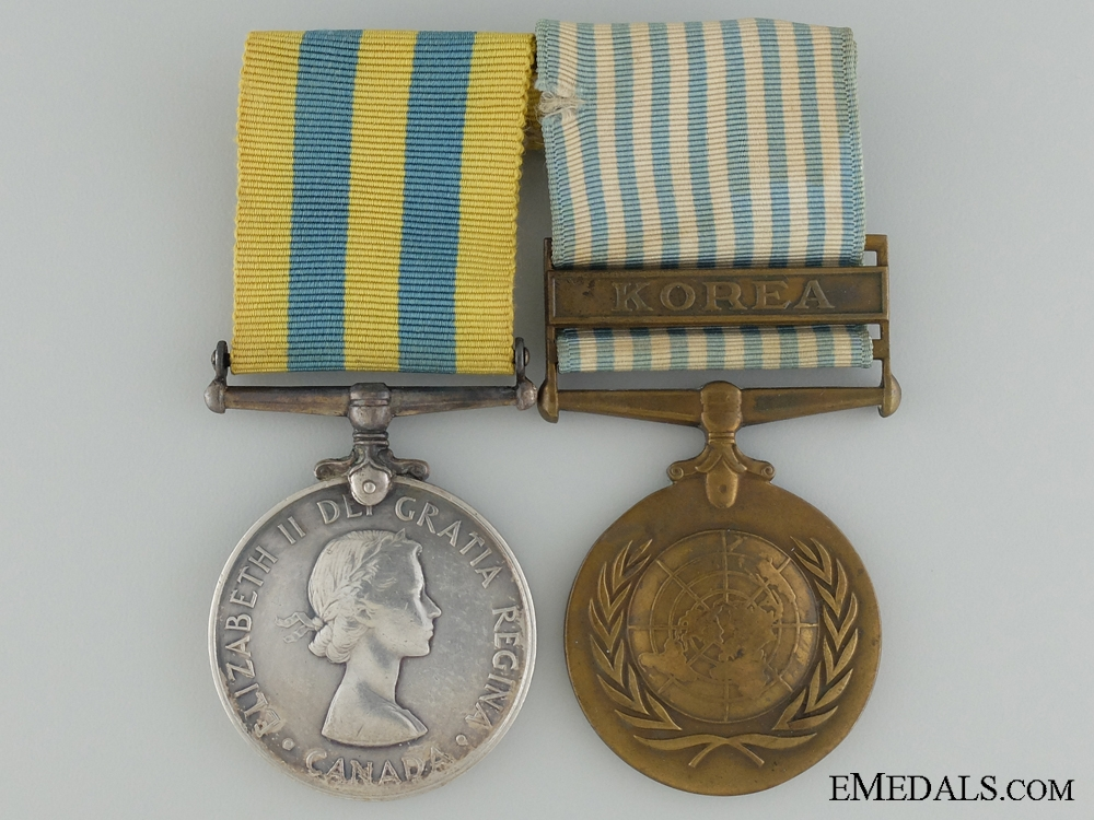 eMedals-A Canadian Korea War Medal Pair to C.Flemming