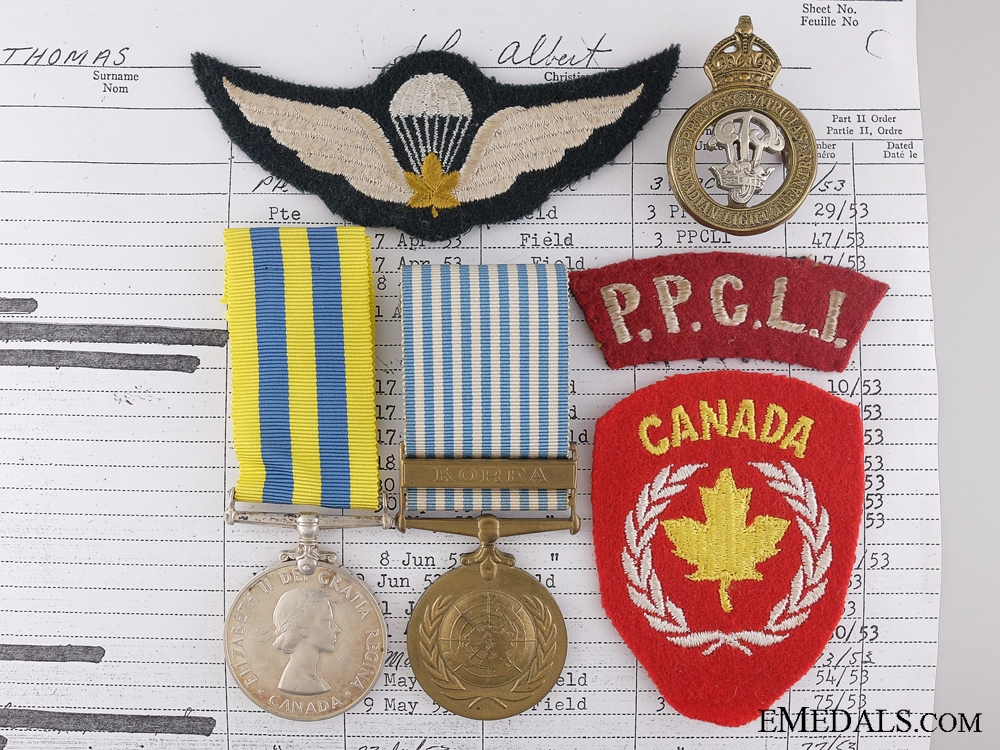eMedals-A Korean War Pair to the Princess Patricia's Canadian Light Infantry