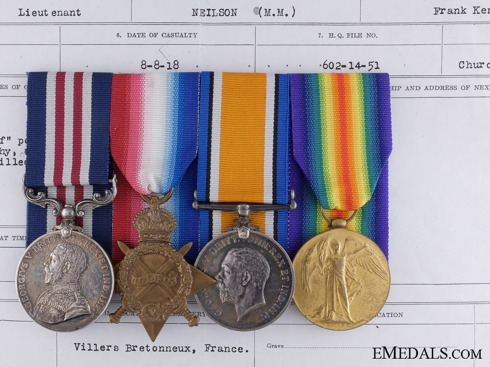eMedals-A 1916 Royal Montreal Regiment M.M. for Action on Ypres Salient; KIA at Battle of Amiens