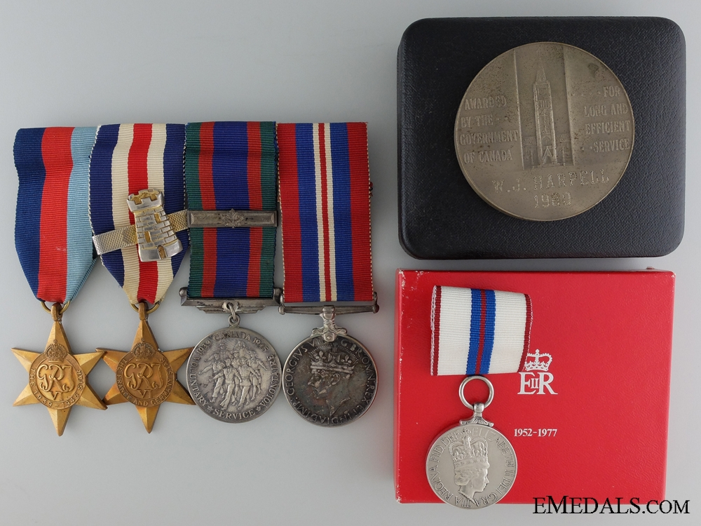 eMedals-A Canadian Medal Group to W.J. Harpell; Algonquin Regiment