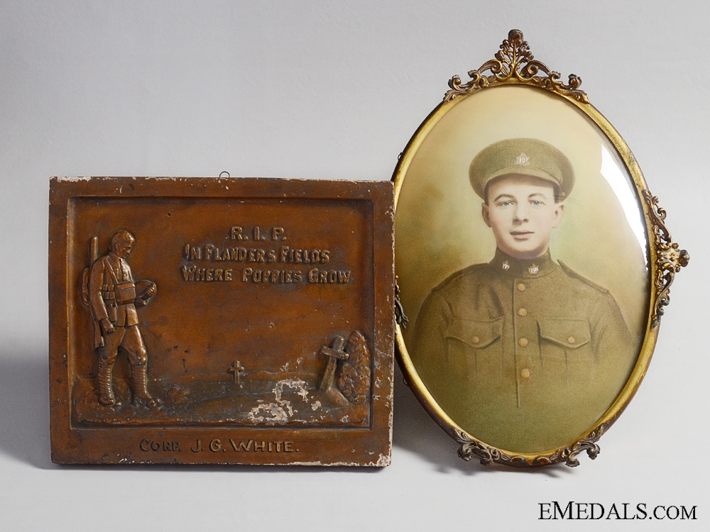 eMedals-A Canadian Memorial Set to Joseph George White; Passchendaele