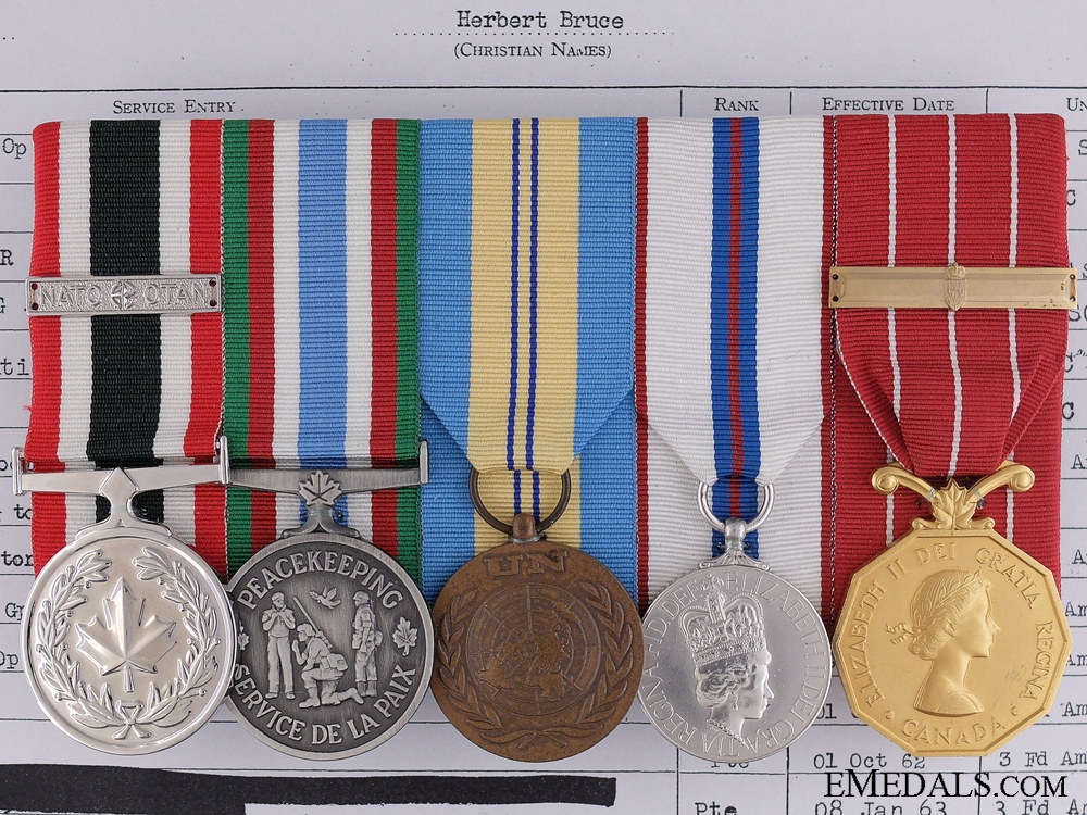 eMedals-A Canadian Peace Keeping Medal Group