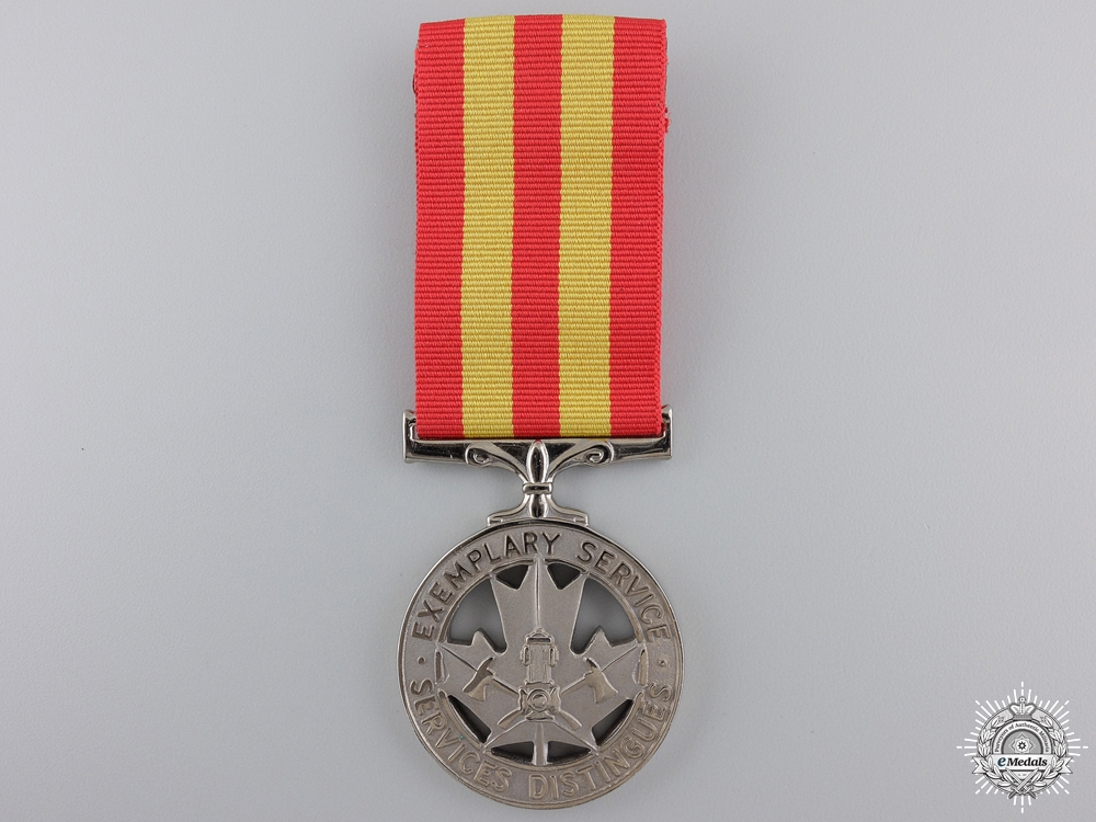 eMedals-A Canadian Police Service Exemplary Service Medal with Bar