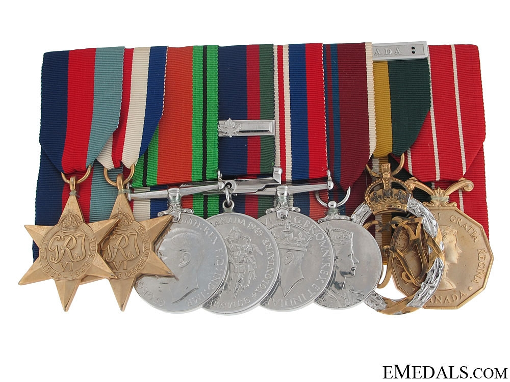 eMedals-A Canadian Second War Group of Eight