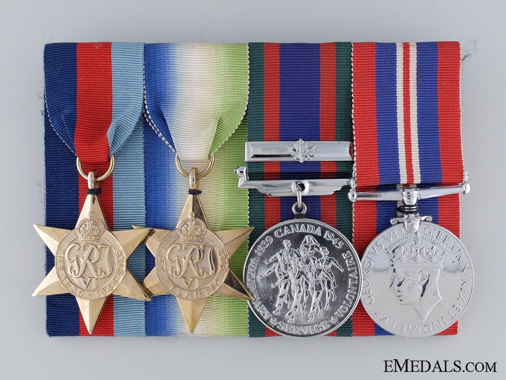 eMedals-A Canadian Second War Group of Four Campaign Medals