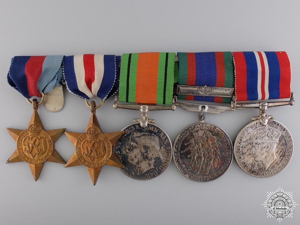 eMedals-A Canadian Second War European Service Medal Bar