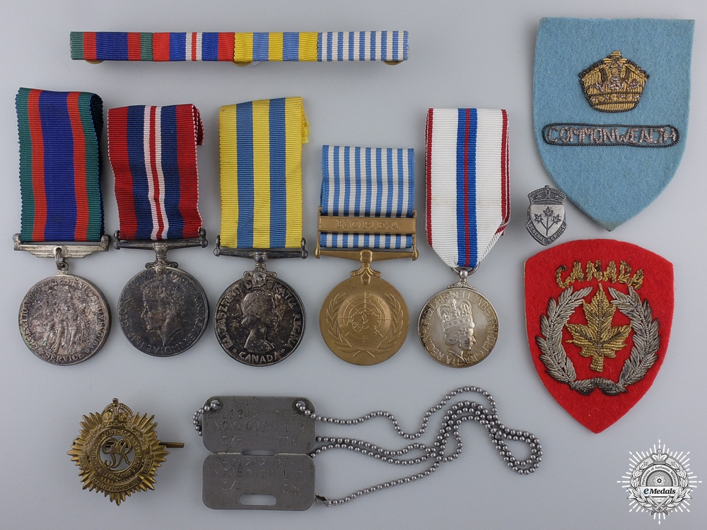 eMedals-A Canadian Second War & Korean Service Medal Group