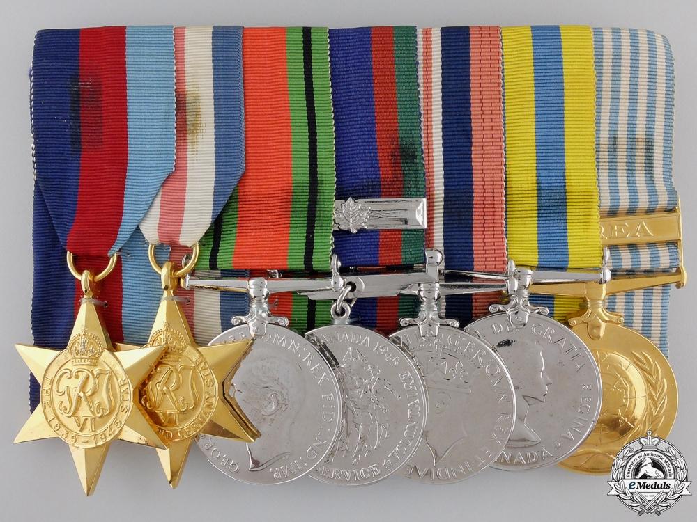 eMedals-A Canadian Second War & Korean Service Medal Bar