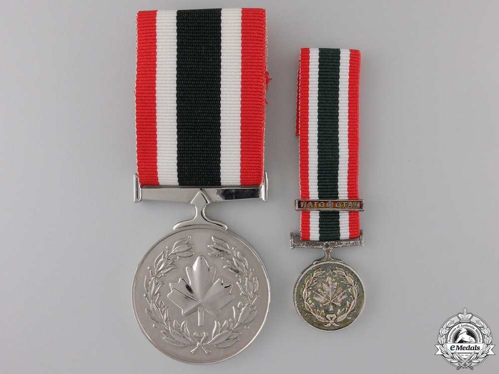eMedals-A Canadian Special Service Medal with Miniature