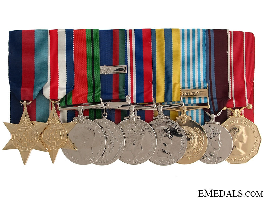 eMedals-A Canadian WWII & Korean War Group of Nine