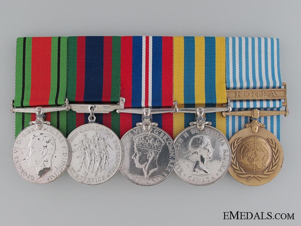 eMedals-A Canadian WWII & Korean War Medal Bar