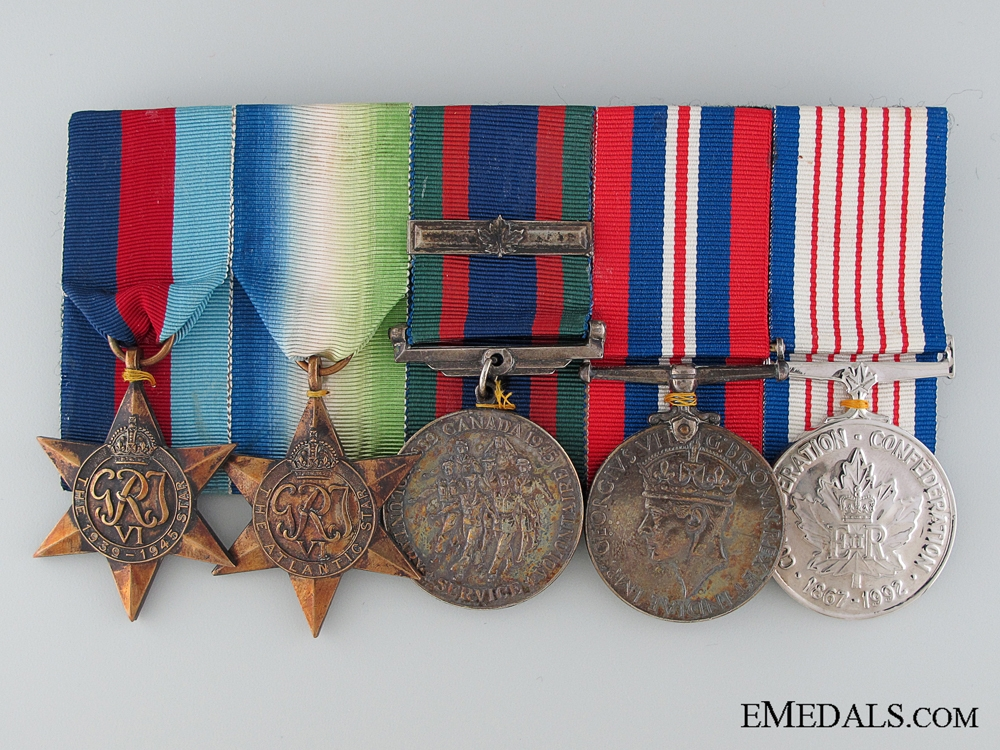 eMedals-A Canadian WWII Medal Bar