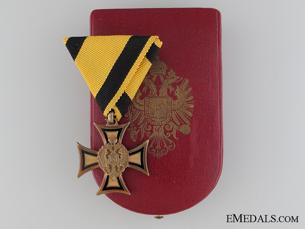 eMedals-A Cased Austrian Long Service Cross; 2nd Class