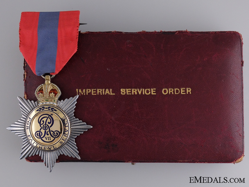 eMedals-A Cased Edward VII Imperial Service Order