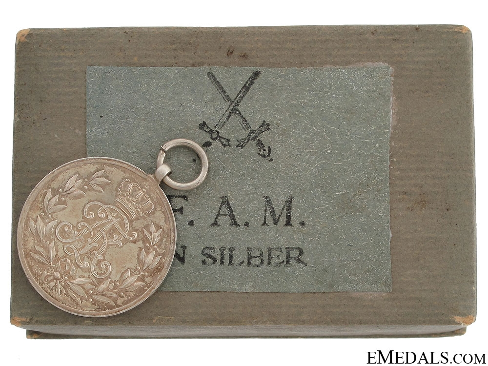 eMedals-A Cased Friedrich August Medal