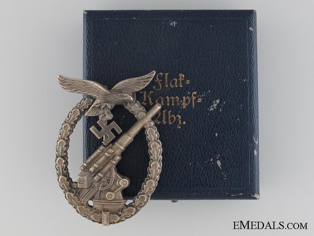 eMedals-A Cased Luftwaffe Flak Badge by Juncker
