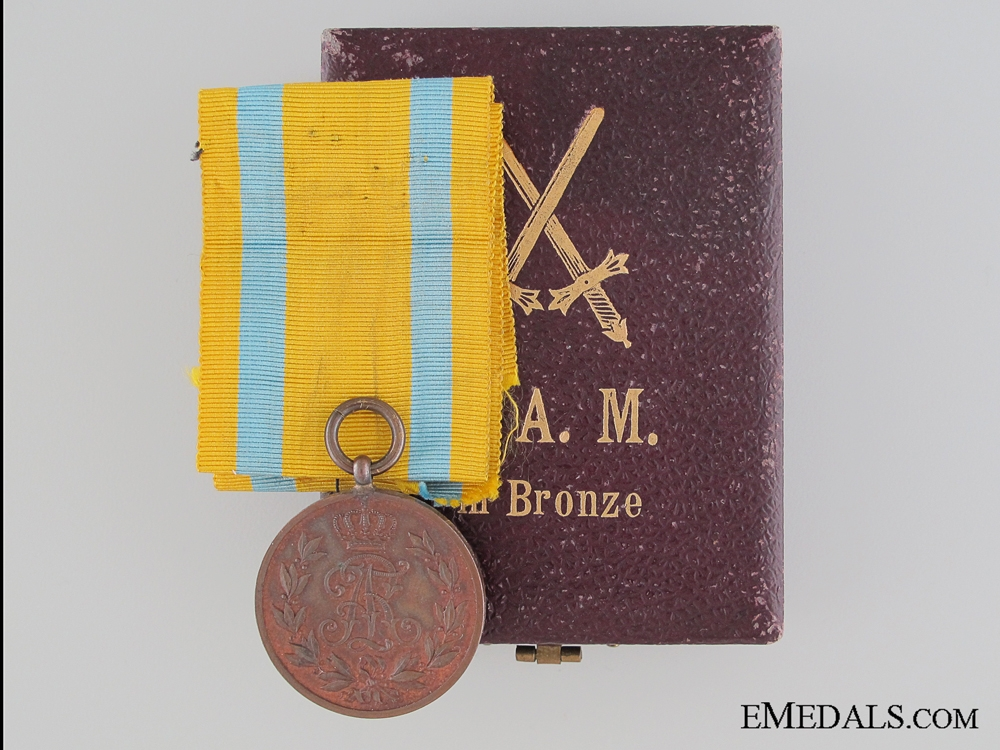 eMedals-A Cased WWI Friedrich August Medal  Consignment