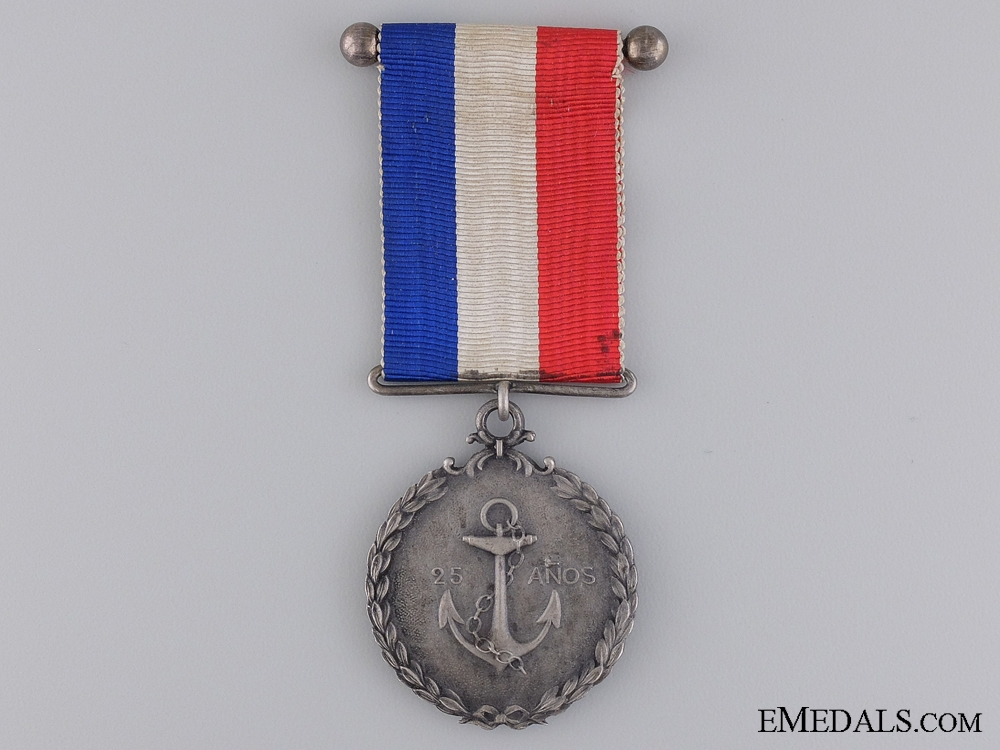eMedals-A Chilean Navy Twenty-Five Year Service Medal