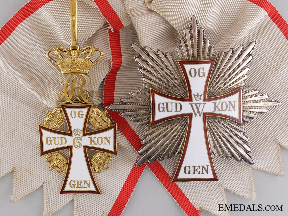 eMedals-A Christian X Danish Order of Dannebrog; Grand Cross Set