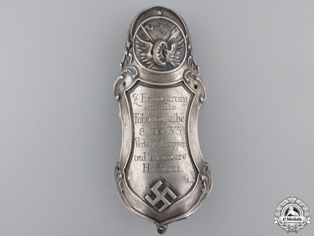 eMedals-A City of Hanau Flag Pole Dedication Plaque for 1933