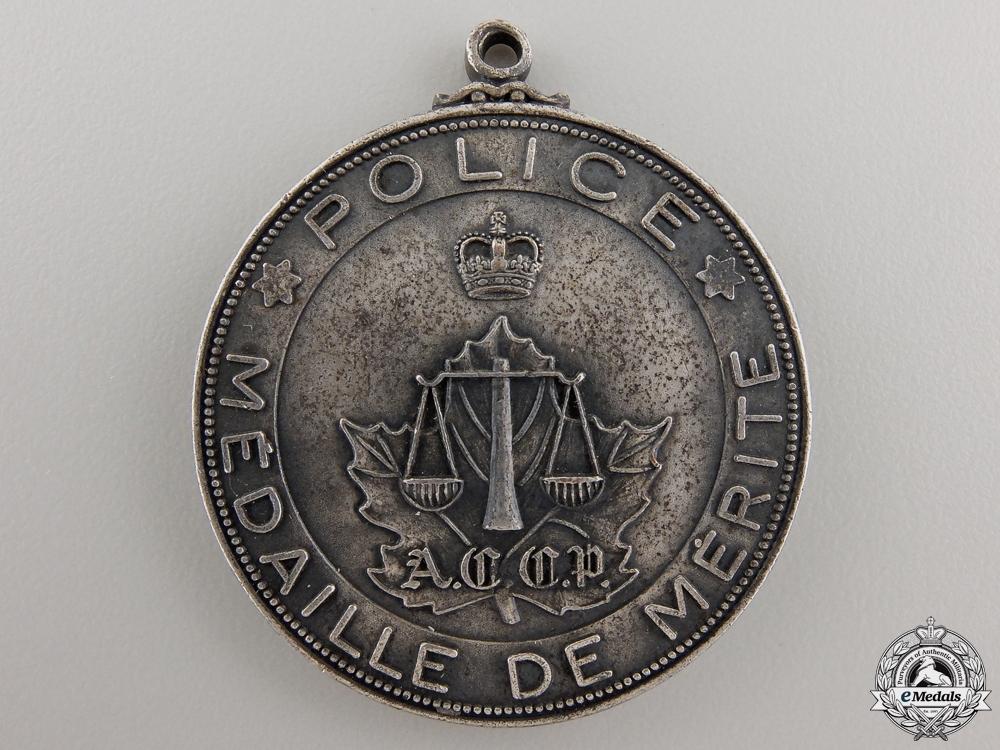 eMedals-A City of Montreal Police Medal for Merit